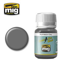 Ammo by MIG Medium Grey Panel Line Wash For Model Kits MIG 1601