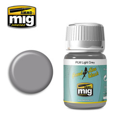 Ammo by MIG Light Grey Panel Line Wash For Model Kits MIG 1600