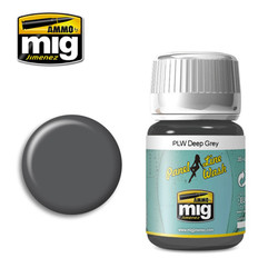 Ammo by MIG Deep Grey Panel Line Wash For Model Kits MIG 1602