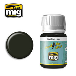 Ammo by MIG Black Night Panel Line Wash For Model Kits MIG 1611