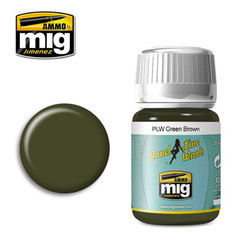 Ammo by MIG Green Brown Panel Line Wash For Model Kits MIG 1612