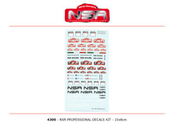 NSR Professional Decals Kit 15x8cm NSR4300 1:32 Scale