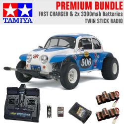 TAMIYA RC 58452 Sand Scorcher Off Road Buggy 1:10 Premium Stick Radio Bundle