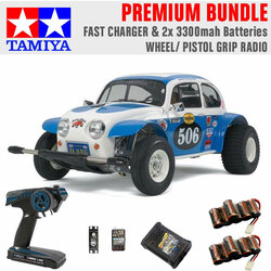 TAMIYA RC 58452 Sand Scorcher Off Road Buggy 1:10 Premium Wheel Radio Bundle