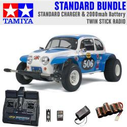 TAMIYA RC 58452 Sand Scorcher Off Road Buggy 1:10 Standard Stick Radio Bundle