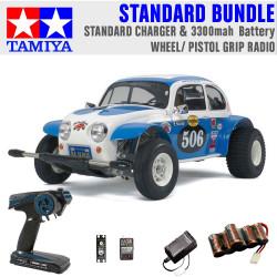 TAMIYA RC 58452 Sand Scorcher Off Road Buggy 1:10 Standard Wheel Radio Bundle