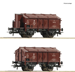 Roco PKP K15 Hinged Lid Wagon Set (2) III RC76043 HO Gauge