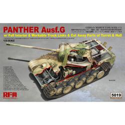 Ryefield Models 5019 Panther Ausf.G Tank 1:35 Plastic Model Tank Kit