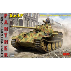 Ryefield Model 5045 Panther Ausf F with Workable Tracks 1:35 Plastic Model Kit