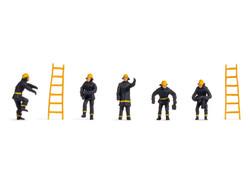 Noch Firemen (5) & Ladders (2) Hobby Figure Set N18001 HO Gauge