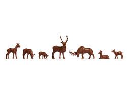 Noch Deer (7) Hobby Figure Set N18211 HO Gauge