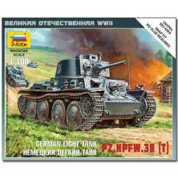 ZVEZDA 6130 German 38t Tank Snap Kit Military Model Kit 1:100