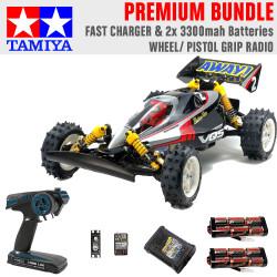 Tamiya RC 58686 Vanquish VQS (2020) Ltd Edition 1:10 Premium Wheel Radio Bundle