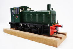Heljan Class 03 Unnumbered BR Green Flowerpot Exhaust O Gauge Diesel Model Train HN2052
