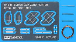 TAMIYA 12624 A6M Zero Detail Up Parts Set 1:48 Aircraft Model Kit