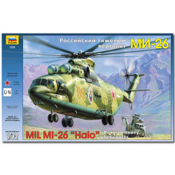 ZVEZDA 7270 Mil Mi-26 Soviet Helicopter Aircraft Model Kit 1:72