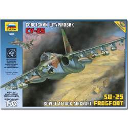 ZVEZDA 7227 Su-25 Frogfoot 1:72 Aircraft Model Kit