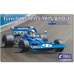 EBBRO 20007 Tyrrell 003 Monaco 1971 1:20 007 Car Model Kit Tamiya E007
