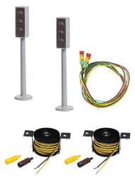 FALLER Car System Traffic Lights w/ Stop Sections (2) HO Gauge 161656