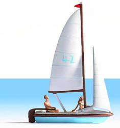 NOCH Sailing Boat w/ Figures HO Gauge Scenics 16824