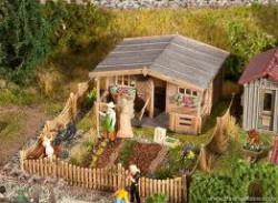 FALLER Allottment w/ Large Garden House Model Kit III HO Gauge 180493