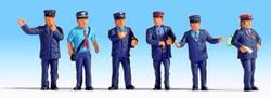 NOCH Austrian Railway Staff (6) Figure Set HO Gauge Scenics 15267