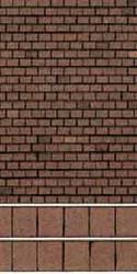 Superquick Red Tile Building Papers OO Gauge SQD4