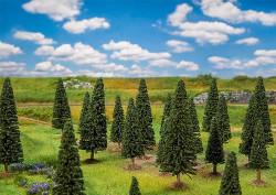 FALLER Assorted Small Fir Trees (25) HO Gauge Scenics 181541