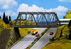 NOCH Girder Bridge Kit 36x6.5x10.6cm HO Gauge Scenics 21320