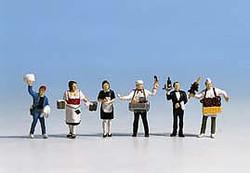 NOCH Waiting Staff (6) Figure Set HO Gauge Scenics 15070