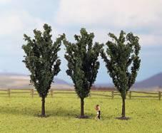 NOCH Poplar (3) Classic Trees 12cm HO Gauge Scenics 25140