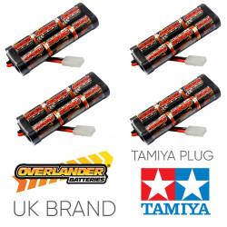 Overlander 4x 2000mah 7.2v Nimh Battery Pack Stick - Tamiya RC Car Boat