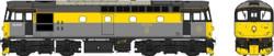 Heljan Class 33 025 BR Engineers Grey/Yellow Weathered OO Gauge Diesel Model Train HN3458