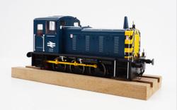 Heljan Class 03 Unnumbered BR Blue Wasp Stripes Conical Exhaust O Gauge Diesel Model Train HN2073