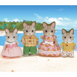 Striped Cat Family - SYLVANIAN Families Figures 5180