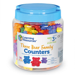 Learning Resources Three Bear Family Rainbow Counters - Set of 96 0744