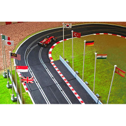 SLOT TRACK SCENICS 10 Flags with Masts Pack B - for Scalextric