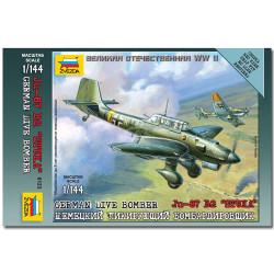 ZVEZDA 6123 German Dive Bomber Snap Fit Aircraft Model Kit 1:144