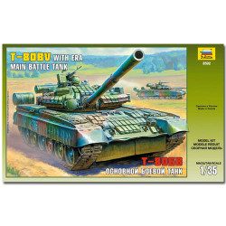 ZVEZDA 3592 T-80u Tank with Era Military Model Kit 1:35