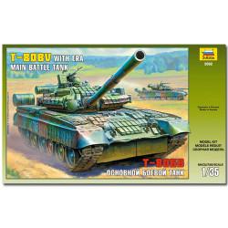 ZVEZDA 3592 T-80u Tank with Era Military Model Kit 1:35
