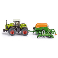 Siku Farmer Class Xerion Tractor With Amazone Seeder Diecast Model Toy 1826 1:87