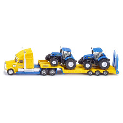 Siku HGV Low Loader & 2 New Holland Tractors Diecast Model Toy 1805 1:87