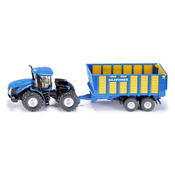 Siku New Holland with Silage Trailer Diecast Model Toy 1947 1:50