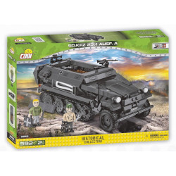 Cobi 2552 Historical Collection WWII SD. KFZ. 251/Ausf. A 590 KL Brick Model