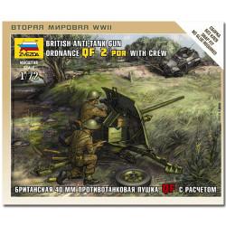 ZVEZDA 6169 British QF 2-PDR Anti Tank Gun Model Kit 1:72