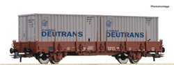 Roco DR Ks Stake Wagon w/Deutrans Container Load IV RC77675 HO Gauge