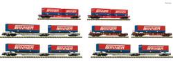 Fleischmann Winner Sdggmrs IT2000 Container Wagon Retailer Pack (7) FM825030 N Gauge