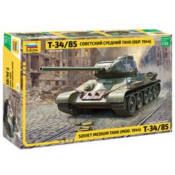 ZVEZDA 3687 T34/85 Soviet Medium Tank 1:35 Tank Model Kit
