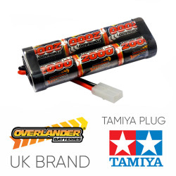 Overlander 2000mah 7.2v Nimh Battery Pack Stick - Tamiya RC Car Boat