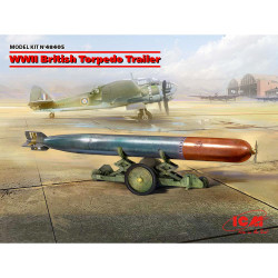 ICM 48405 WWII British Torpedo Trailer 1:48 Plastic Model Kit